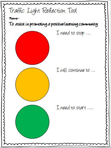 Stoplight Assessment Teaching Commons York