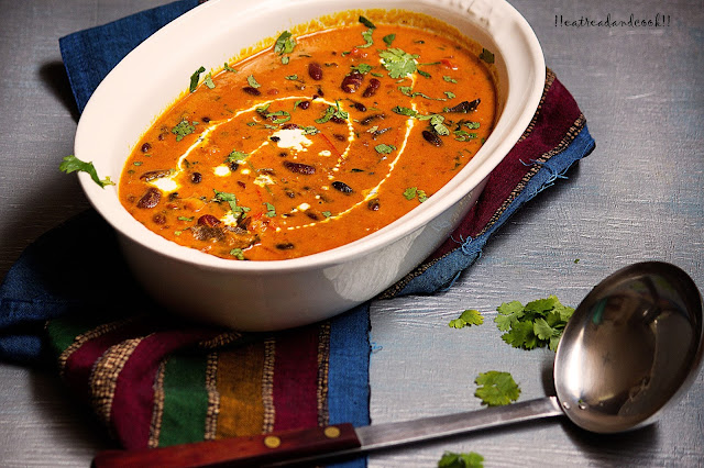 how to make Pure Veg Rich and Creamy Rajma Curry recipe and preparation with step by step pictures