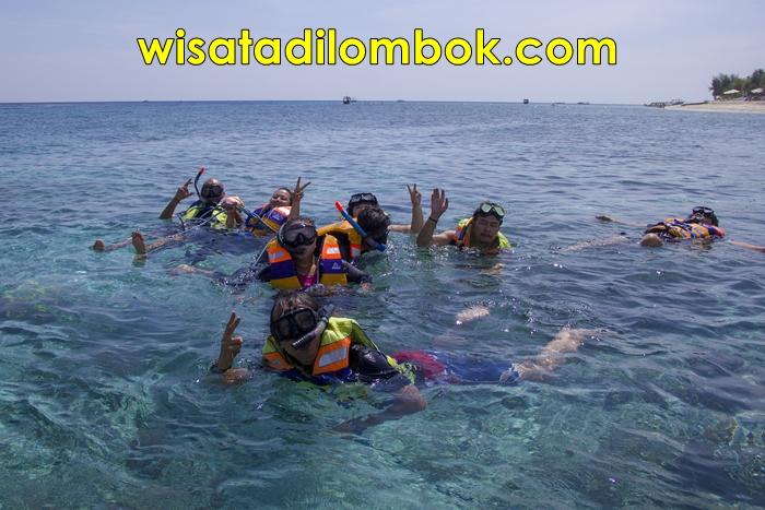 Gambar Akitivitas berenang di pulau lombok