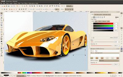 Ferarri - Download Gratis Inkscape - Vector Graphics Editor