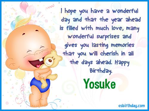 Yosuke Happy birthday