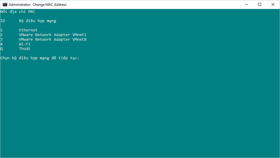 Hướng dẫn tạo Batch script thay đổi địa chỉ MAC của bộ điều hợp mạng