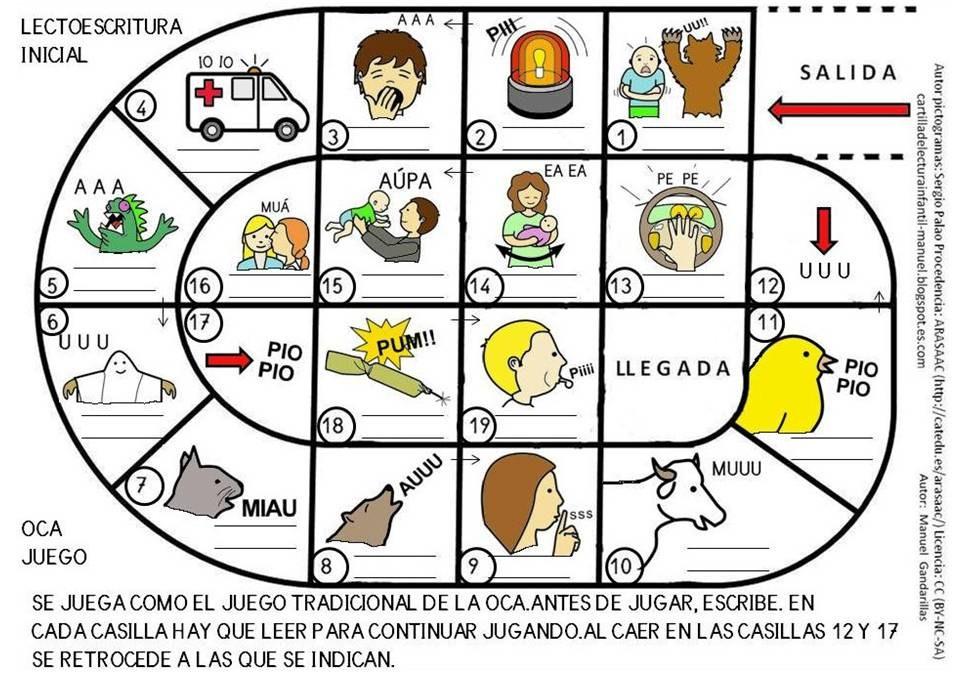 Cartilla De Lectura Infantil: CARTILLA DE LECTURA INFANTIL : JUEGO DE LA OCA
