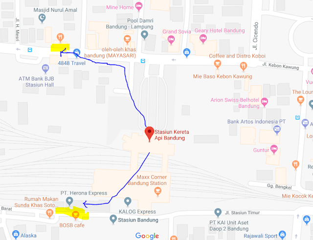 Titik Jemput Penumpang Ojek Online Gojek-Grab di Stasiun Bandung