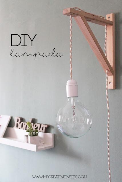 IKEA Tips: DiY Lampada Cable lamp tutorial lampada fai da te con staffa reggimensola ikea ME creativeinside