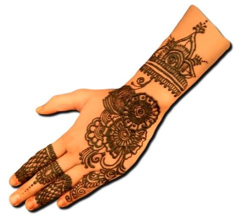 Full Hand Stylish Back Hand Pattern