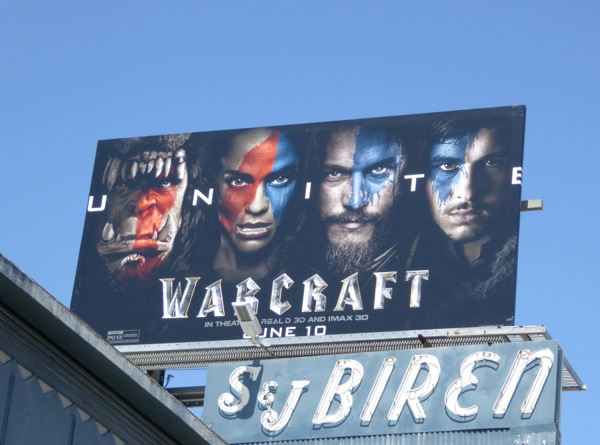 Warcraft movie billboard