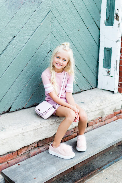 blush dress shoes little girl hair blonde fashion trends outfit idea