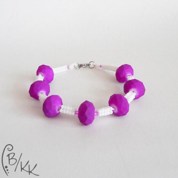 bransoletka herringbone neonowy fiolet | neon purple herringbone bracelet