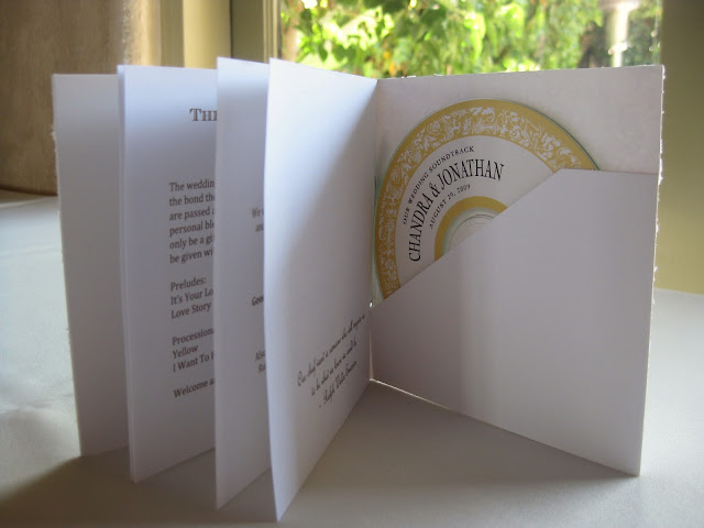 wedding DIY program and CD favor combo by Oh Lovely Day