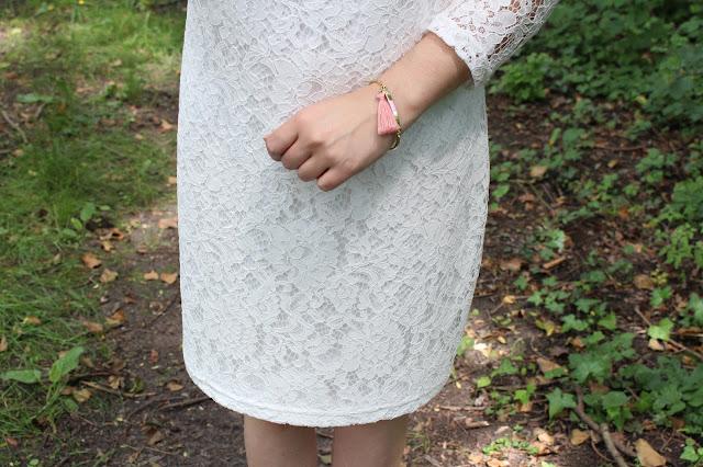 bracelet pompom corail merci ma jolie