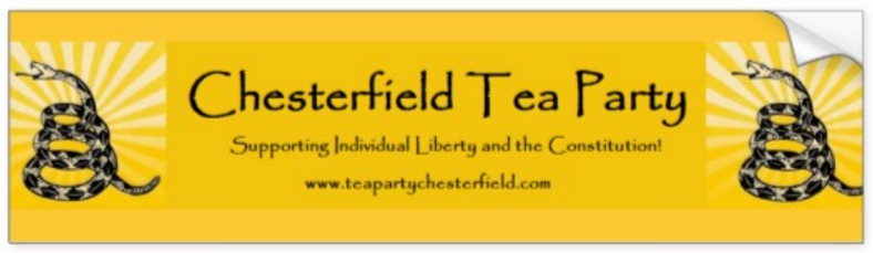 Chesterfield Tea Party Bumper Sticker