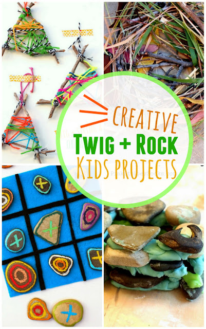 Creative Twig and Rock Projects for Kids- Easy, affordable, and fun ways to be creative!