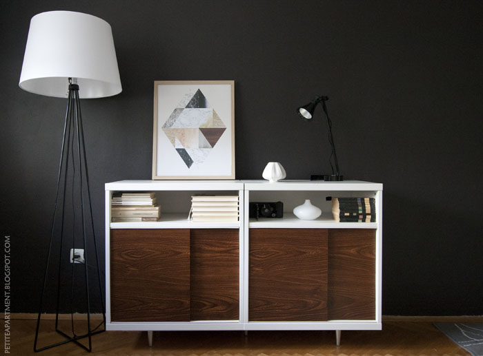 ikea besta mid century modern cabinet hack petite apartment. Black Bedroom Furniture Sets. Home Design Ideas