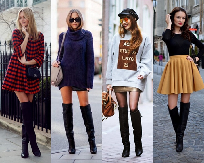 Como usar bota Over the Knee com look's básicos