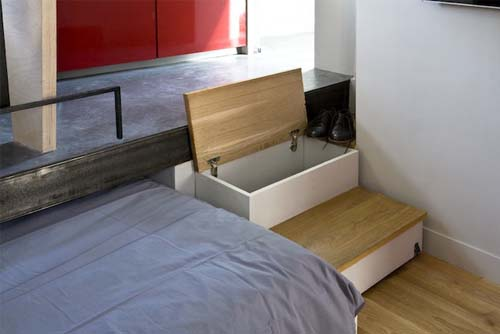 Creare delle scale in un appartamento di 16 mq a Parigi