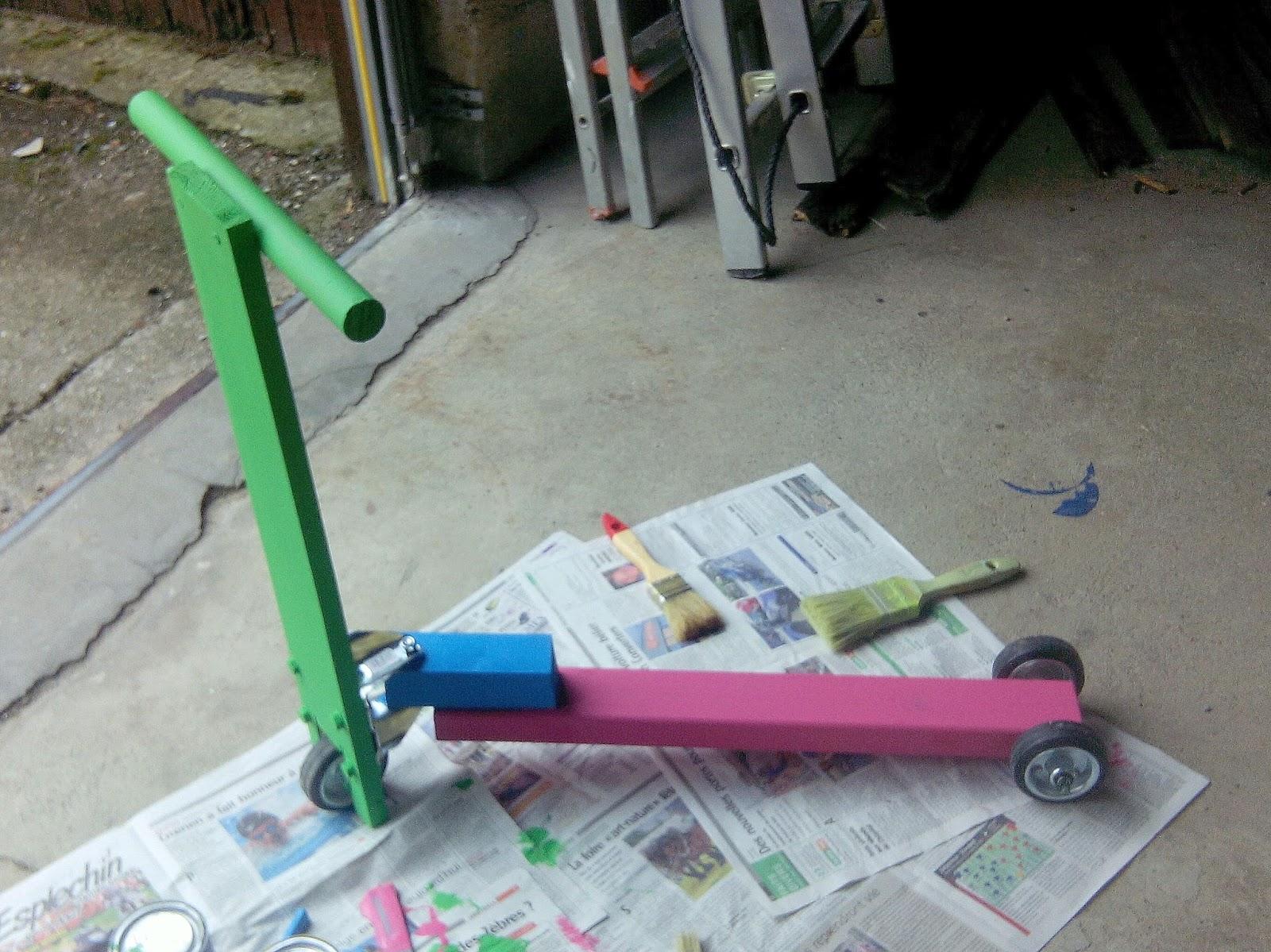 le blog du bricolage idiot trottinette enfant 3 roues. Black Bedroom Furniture Sets. Home Design Ideas