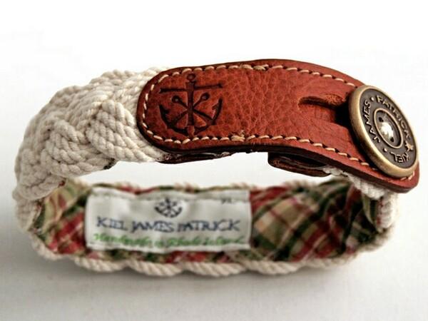 men's leather bracelet Mariner & Cape Poge Bay
