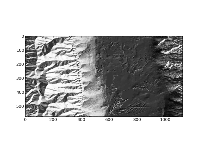 GeoExamples: Shaded relief images using GDAL python