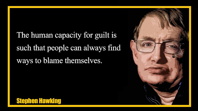 The human capacity for guilt is such that people can always find Stephen Hawking