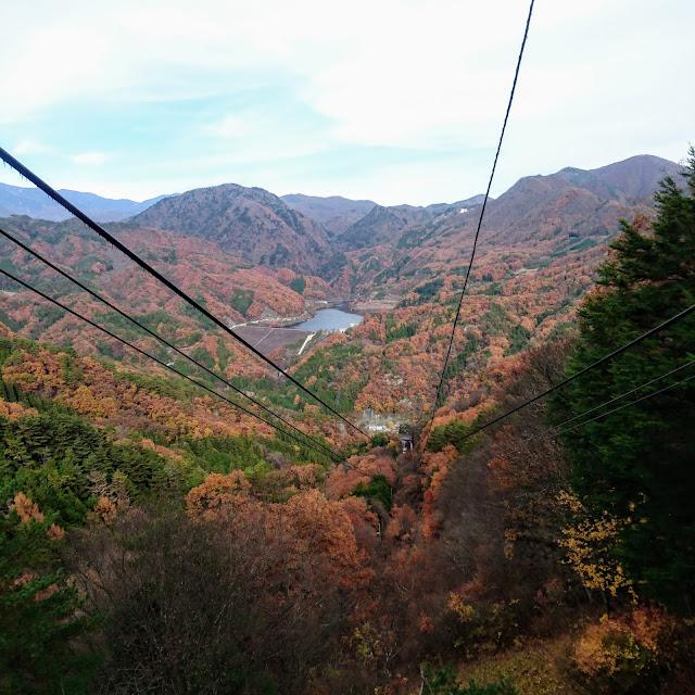 昇仙峡ロープウェイ 能泉湖 紅葉