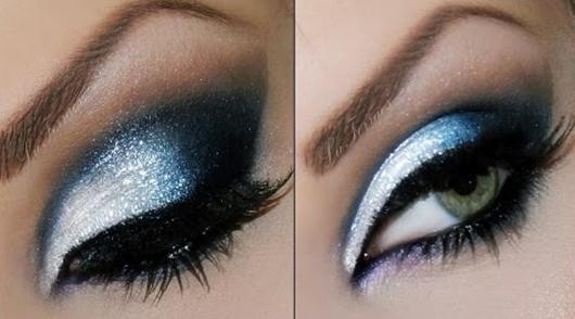 Inspiração: Maquiagem Azul e Prata