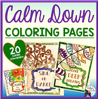 Calm Down Coloring Pages