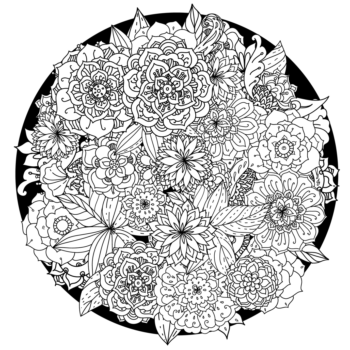 Best HD Flower Mandala Coloring Pages For Adults Images ...