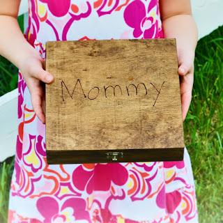 Keepsake Box with Child's Handwriting