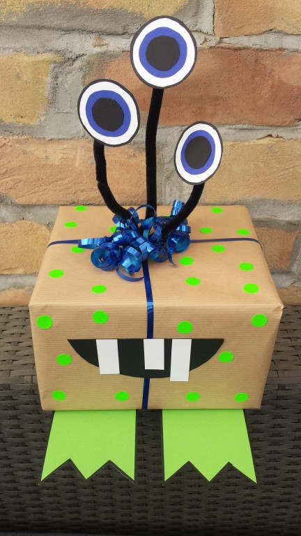 Geschenkverpackung Monster