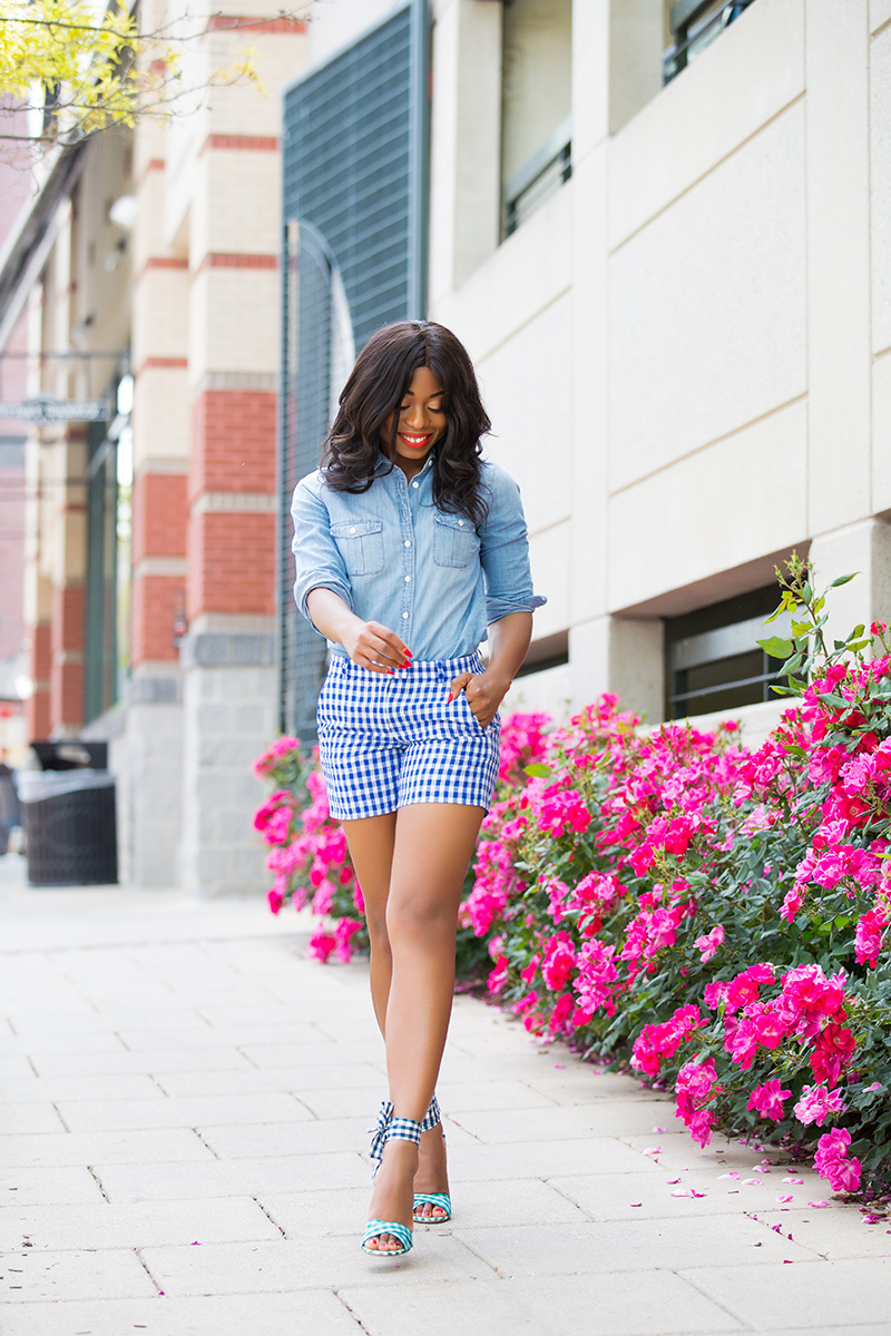 jcrew mixed gingham print. www.jadore-fashion.com