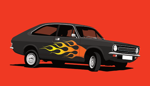 Classic Morris Marina - car T-shirt