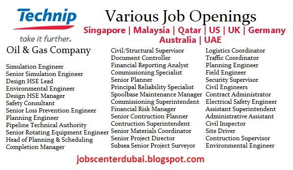 Jobs At Technip S A Jobs Center Dubai