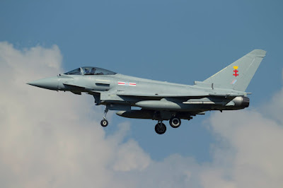 Typhoon FGR.4 ZK356 (No.41 (TES) sqn.) in Payerne