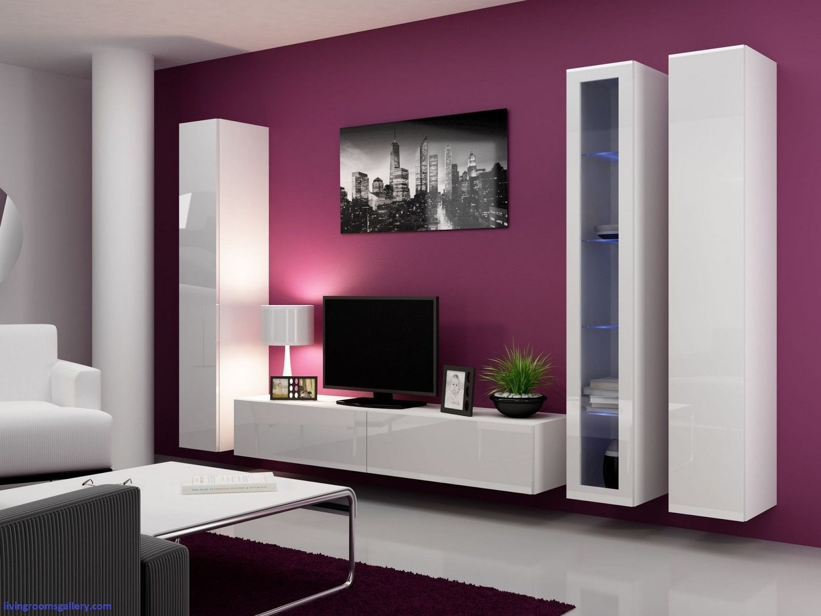 Modern luxurious cupboard designs in living room 2016 Interior design tv wall units