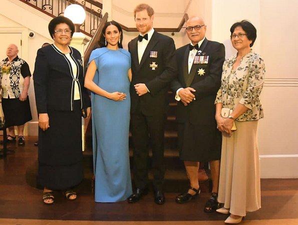 Meghan Markle wore ZIMMERMANN long sleeve dress and Duchess wore Safiyaa London Ginkgo Cape Dress