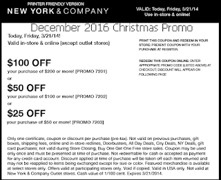 free New York And Company coupons december 2016