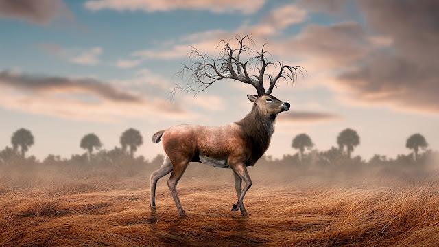 29 Photoshop Surreal Manipulation Tutorial - Deer Horn Branched Tutorial