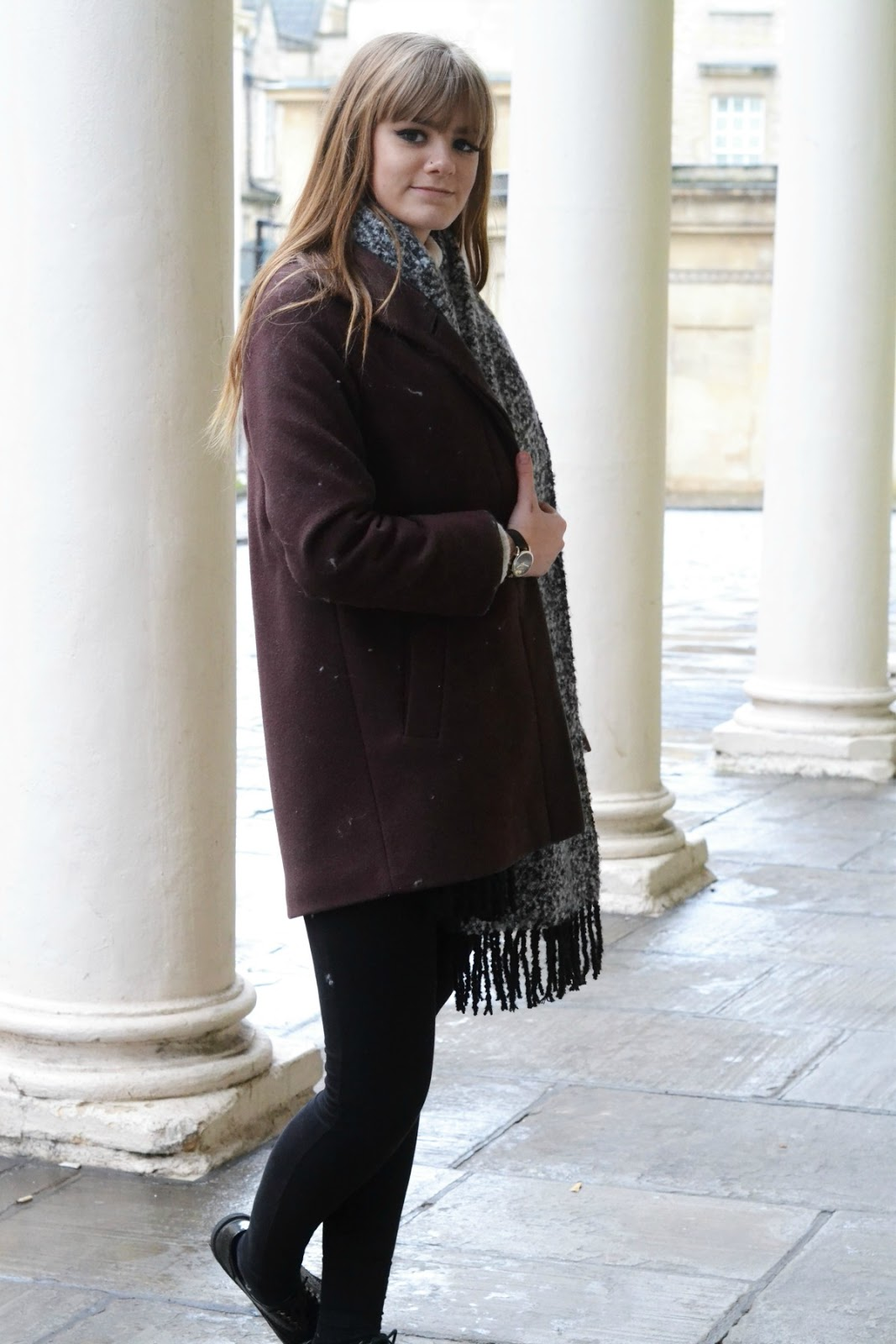 Long Burgundy Coat