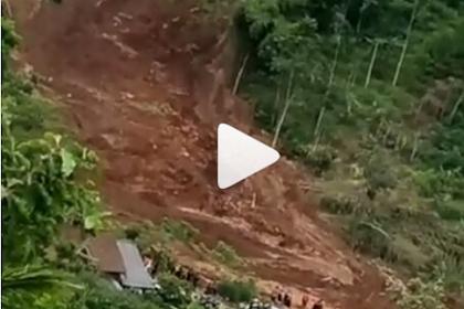 Mencekam, Video Amatir Longsor  Susulan di Ponorogo, Warga Berlarian