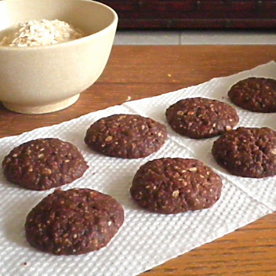 Chocolate Rolled Oat Cookies