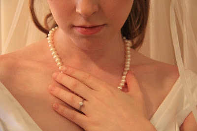 bride wedding day jewelry white pearl strand classic necklace