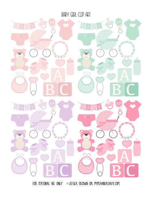 Baby Girl Clip Art from myplannerenvy.com