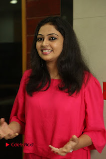 Actress Arundathi Nair Stills in Red Chididar at Bethaludu Success Meet  0016.JPG