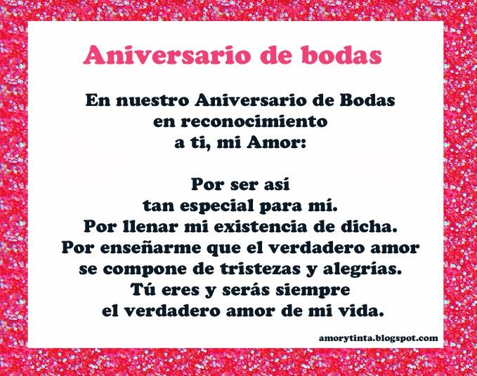Mensajes Para Aniversario De Bodas: Amor Y Tinta: Poemas
