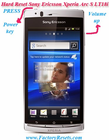 Hard Reset Sony Ericsson Xperia Arc S LT18i