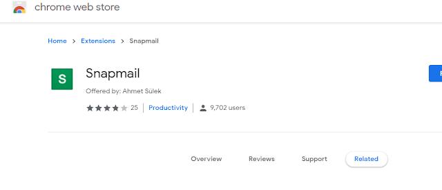 إضافة  Snapmail لمتصفح Chrome