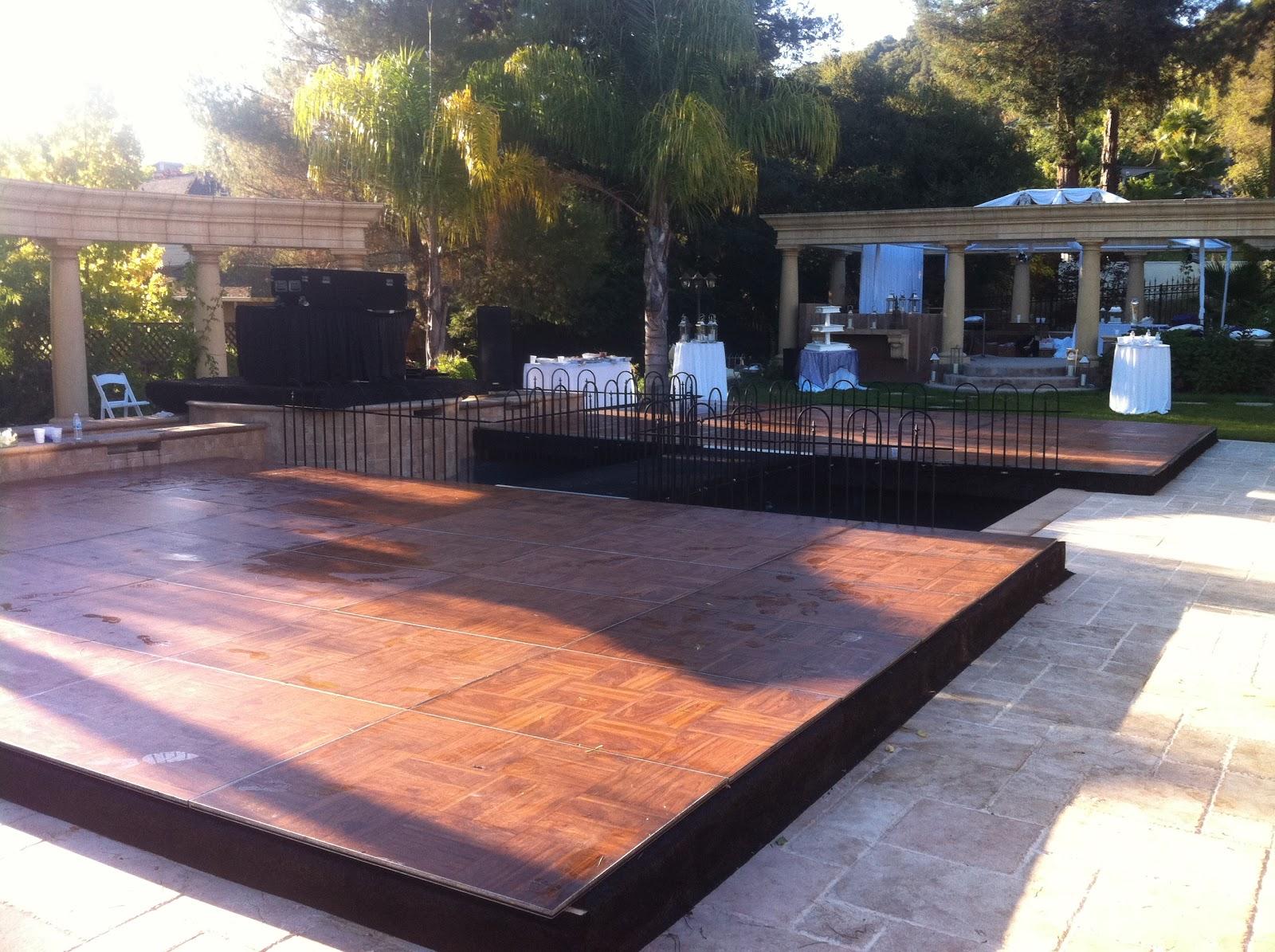 Dance Floor Pool Covers