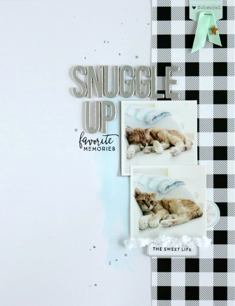 Snuggle Up | Scrapbooking Layout | Mein kreatives Jahr 2015