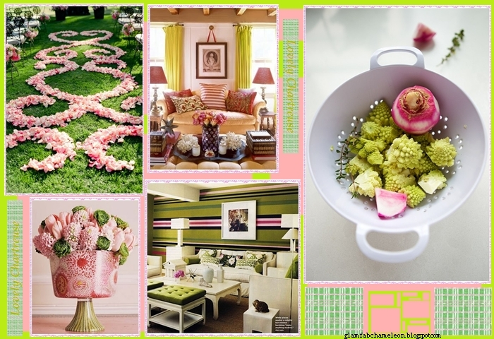 pastel green and pink color inspiration